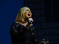 Adele performing at the Bridgestone Arena in Nashville, Tennessee on her Adele Live 2016 tour