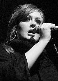Adele performing live in January 2009
