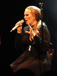Adele performing in Seattle, Washington, on 12 August 2011