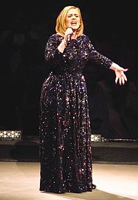 Adele singing in St. Paul during her first North American tour in five years in July 2016. Ten million people attempted to purchase tickets for the North American leg of Adele's world tour. Only 750,000 tickets were available.