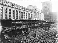 Terminal and baggage building construction c. 1912