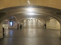 """Incline between concourses, showing the """"whispering gallery"""" outside the Oyster Bar"""