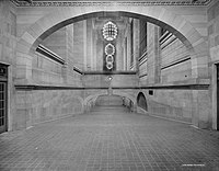 The Oyster Bar ramps shown c. 1913. They were completely restored in 1998 with one change – lower walls on the pedestrian overpass.