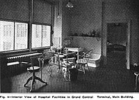 Hospital room in the terminal, 1915