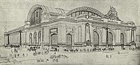 Proposal of the associated architects of Grand Central during its construction, 1905