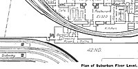 1913 map showing the space beneath Carey's barbershop