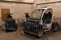 MTA Police T3 scooters and GEM electric vehicles for patrol