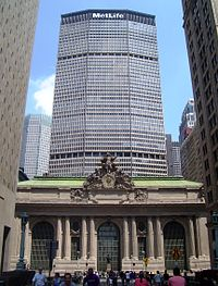 The MetLife Building was completed in 1963 above part of Grand Central Terminal.