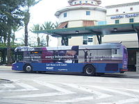 A HARTLine bus at the Marion Transit Center