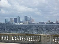 Downtown Tampa as seen from Bayshore Boulevard