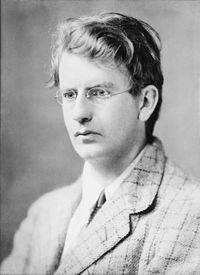 Television pioneer John Logie Baird (seen here in 1917) televised the BBC's first drama, The Man with the Flower in His Mouth, on 14 July 1930, and the first live outside broadcast, The Derby, on 2 June 1931.