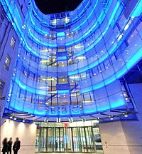 The new extension to the BBC's Broadcasting House, completed in 2012