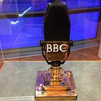 Produced between 1934 and 1959, the BBC-Marconi Type A microphone has been described as an iconic symbol of the BBC alongside the channel's most famous emblem, the rotating globe, which was introduced in 1963.