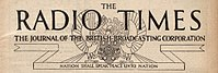 "Masthead from the edition of 25 December 1931 of the Radio Times, including the BBC motto ""Nation shall speak peace unto Nation"""
