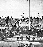 Raising the Flag at Fort Sumter