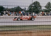 Rahal during the 1986 Indy 500