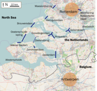 The Delta Works are located in the provinces of South Holland and Zeeland.