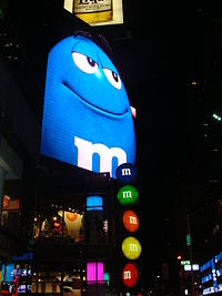 Outside of M&M's World in Times Square, New York City