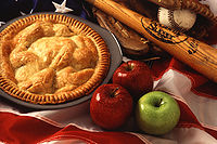 Apple pie is one of a number of American cultural icons
