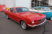 """""""Pony car"""": 1965 Ford Mustang """"fastback"""", introduced in September 1964 for the 1965 model year"""