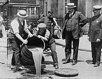 Removal of liquor during Prohibition