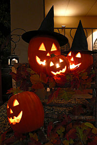 Halloween in the US typically involves dressing up in costumes, with an emphasis on scary themes