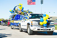 Homecoming parade at Texas A&M University–Commerce in 2013