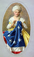 Betsy Ross was an American upholsterer who was credited by her relatives in 1870 with making the first American flag.