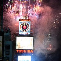 New York City's Times Square is the most famous location for New Year's celebrations in the US with the iconic ball drop