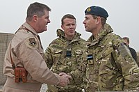 The Earl of Wessex in Kandahar, Afghanistan, December 2011