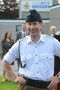 Prince Edward wearing the barrack dress uniform of in The Rifles in the rank of colonel (2014)