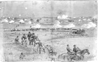 Sketch of the explosion seen from the Union line.
