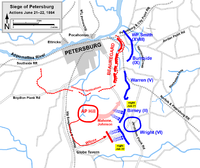 Siege of Petersburg, movements against the railroads and A.P. Hill's counterattack, June 21–22