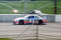 Richard Petty taking practice laps at the Open Test in 1993.