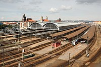 Prague main train station is the largest and busiest train station in the country
