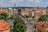 The Charles Bridge is a historic bridge from the 14th century
