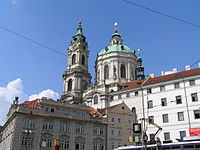 St. Nicholas Church in Malá Strana is the best example of the Baroque style in Prague