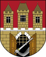 The coat of arms of Prague (1649).