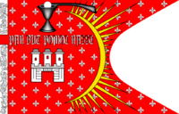 """Depiction of the """"Prague Banner"""" (municipal flag dated to the 16th century)"""