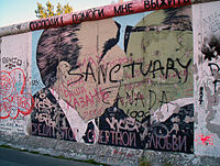 The Berlin Wall (1961–1989) symbolised a bordered globe, where citizens of East Germany had no right to leave, and few could enter. The EU has progressively dismantled barriers to free movement, consistent with economic development.