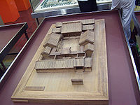 Model of a Chinese Siheyuan in Beijing, which shows off the symmetry, enclosed heavy platform and a large roof that floats over this base, with the vertical walls not as well emphasized.