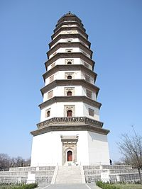 The Liaodi Pagoda, the tallest pre-modern Chinese pagoda, built in 1055 during the Song dynasty