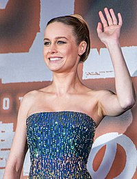 Larson at the Japan premiere of Kong: Skull Island in 2017