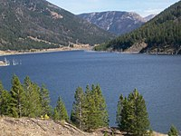 Quake Lake was created by a landslide during the 1959 Hebgen Lake earthquake.