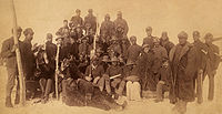 """Buffalo Soldiers, Ft. Keogh, Montana, 1890. The nickname was given to the """"Black Cavalry"""" by the Native American tribes they fought."""