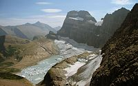 The Grinnell Glacier receives 105 in of precipitation per year.