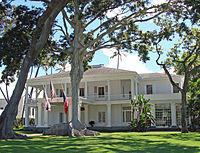 The Governor of Hawaii officially resides at Washington Place.