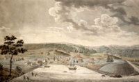 """Baltimore Town in 1752, (at """"The Basin"""")"""