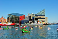 Baltimore is the home of the National Aquarium, one of the world's largest.