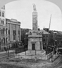 The Battle Monument is the official emblem of the City of Baltimore.